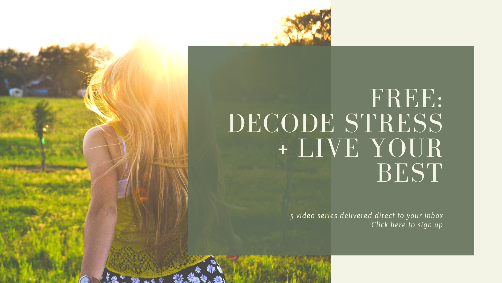 Anna Grillo FREE Decode stress + live your best